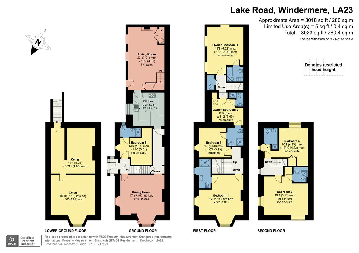 Floorplan Rocklea, Lake Road, Windermere, Cumbria, LA23 2BX