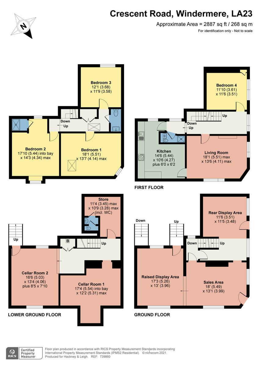 Floorplan 6 Crescent Road, Windermere, Cumbria, LA23 1EA