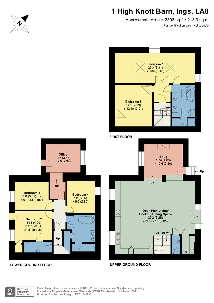 Floorplan 1 High Knott Barn, Ings, Cumbria, LA8 9PX