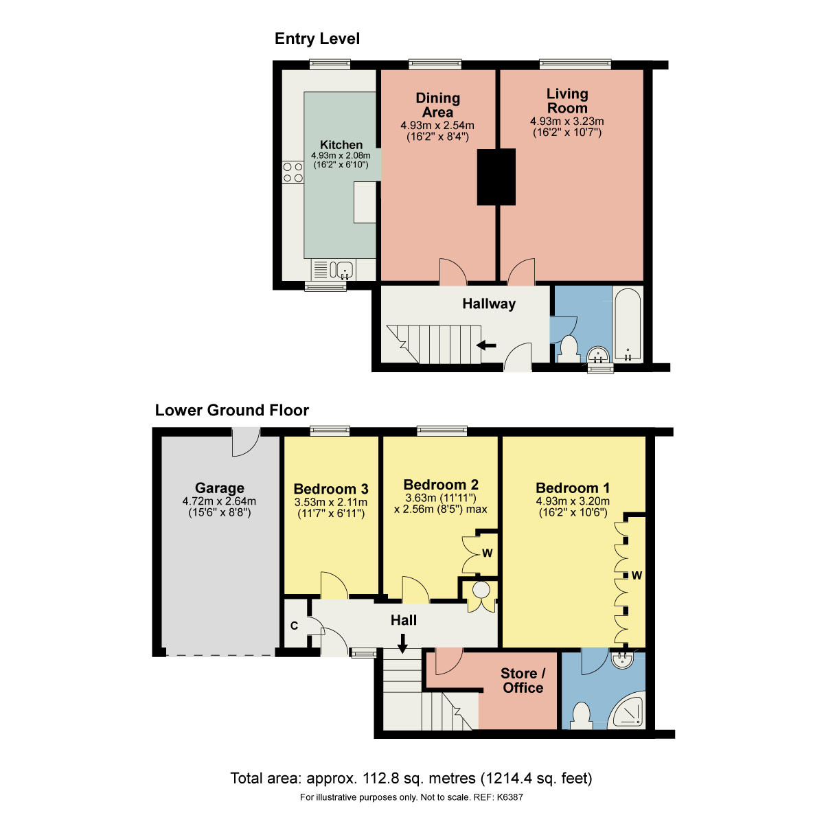 Floorplan 15 Greenways Drive, Endmoor, Kendal, Cumbria LA8 0EL