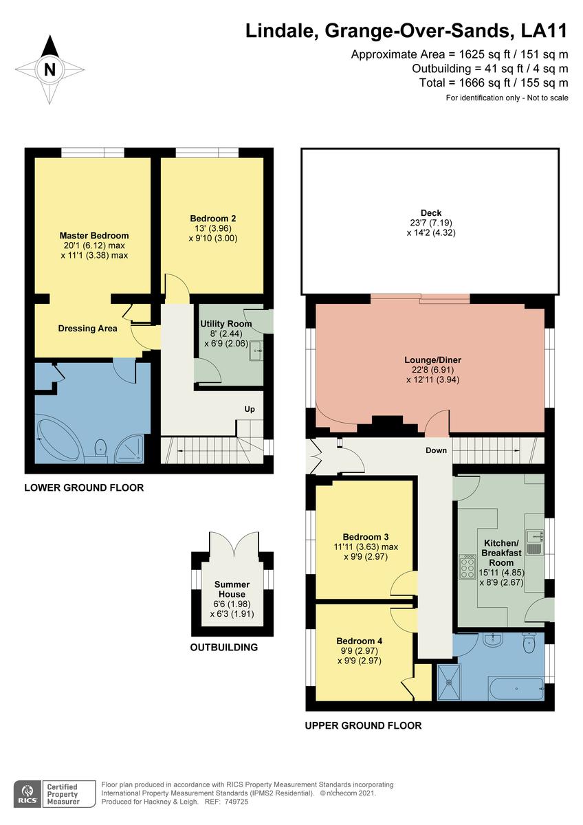 Floorplan Macallan, School Hill, Lindale, Grange-over-Sands, Cumbria, LA11 6LE