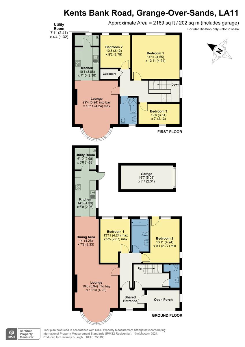 Floorplan Greystones (flats 1 and 2), Kents Bank Road, Grange-over-Sands, Cumbria, LA11 7EF