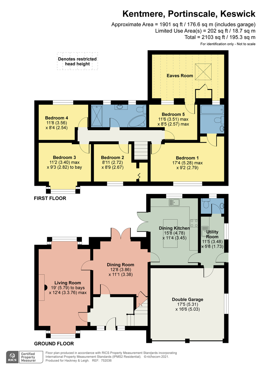 Floorplan Portinscale, Keswick