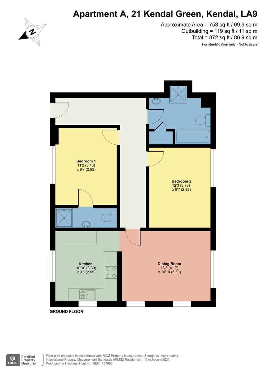 Floorplan Kendal Green, Kendal