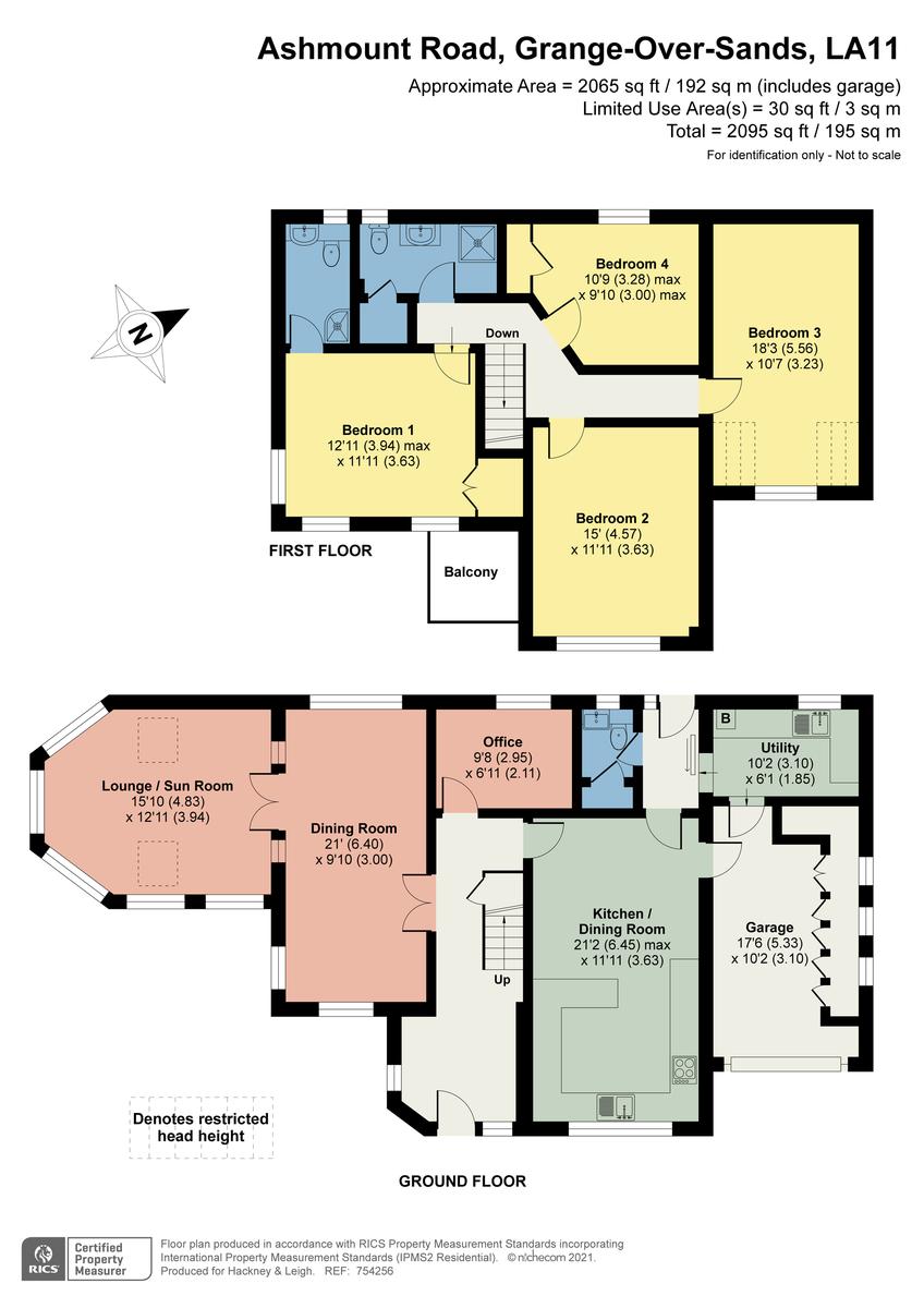 Floorplan Brambles, Grange-over-Sands, Cumbria, LA11 6BX