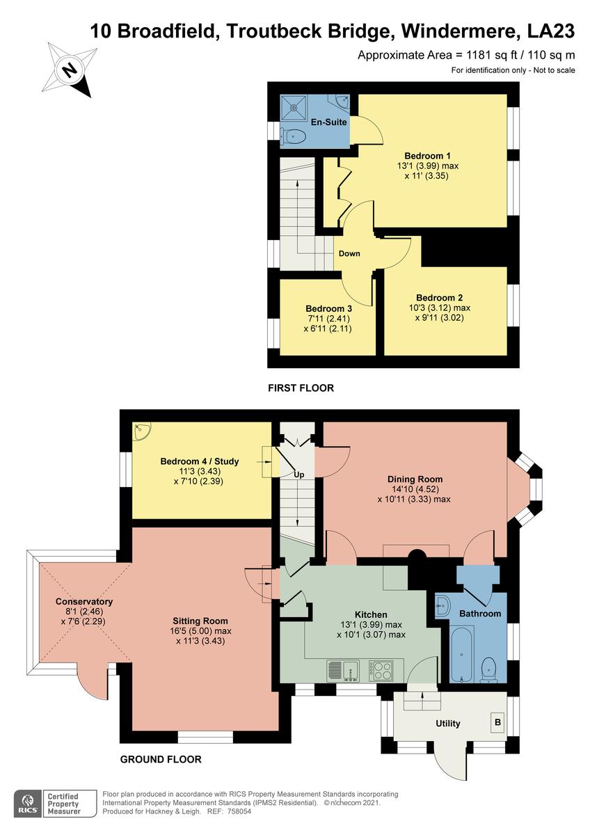 Floorplan 10 Broadfield, Troutbeck Bridge, Windermere, Cumbria, LA23 1HX