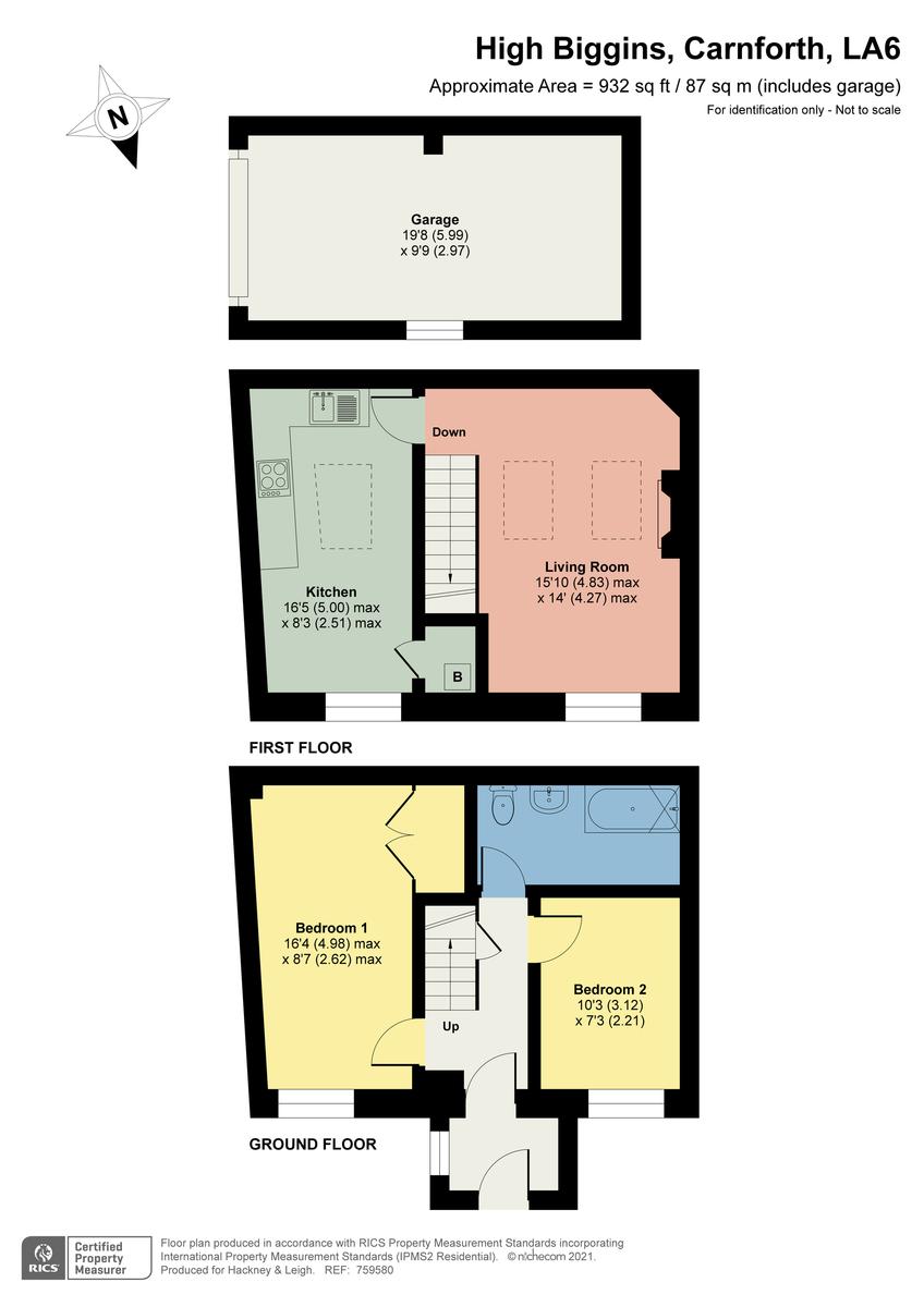 Floorplan Nutshell Barn, High Biggins, Kirkby Lonsdale, Lancashire, LA6 2NP