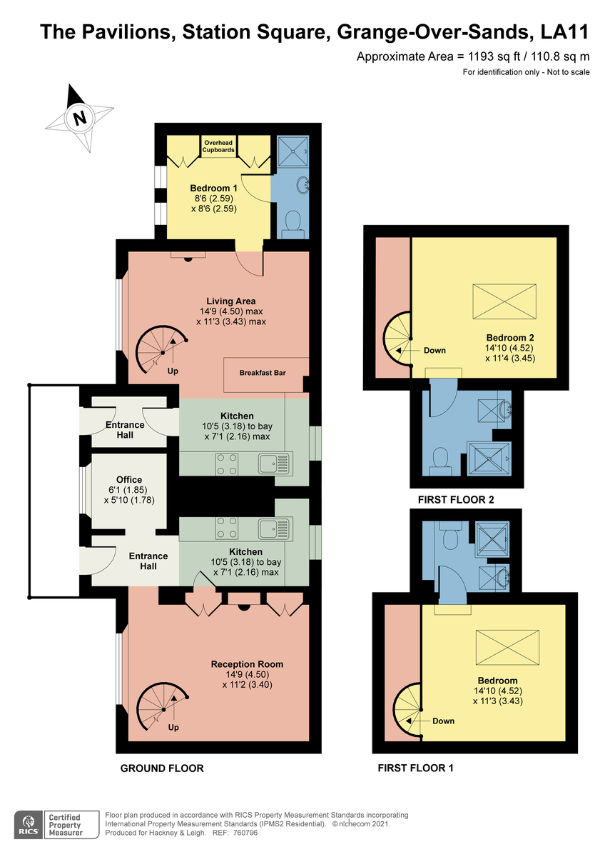 Floorplan Spa Cottage & North Lodge, Station Square, Grange-over-Sands, Cumbria, LA11 6EH.