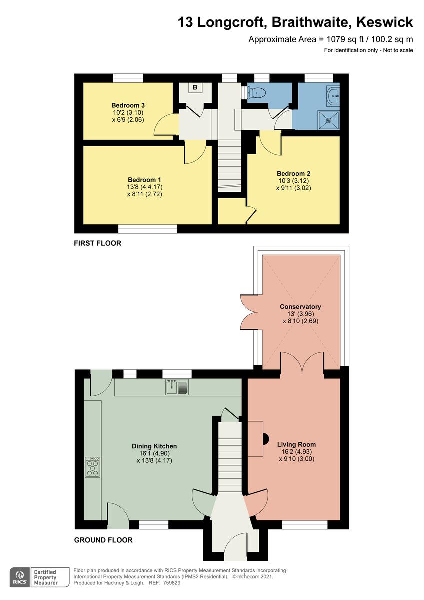 Floorplan Longcroft, Braithwaite, Keswick