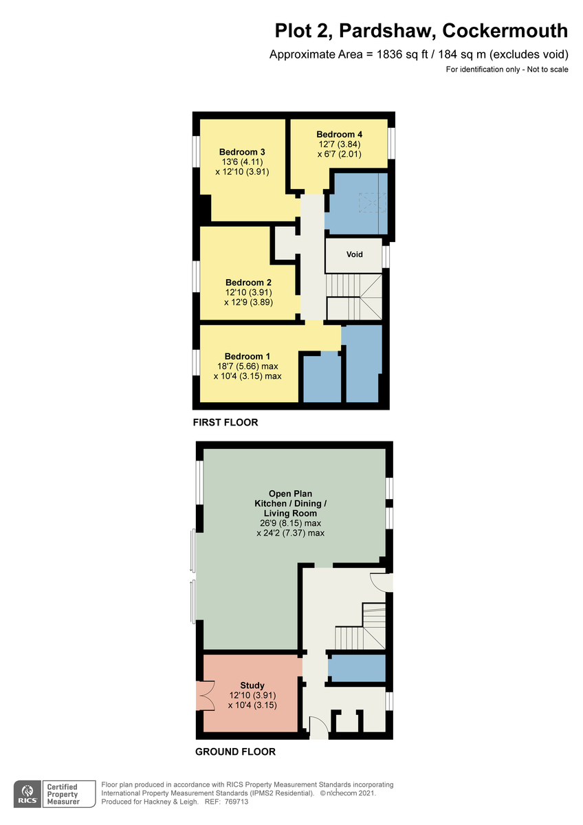 Floorplan Low Fell Cottage, Pardshaw, Cockermouth