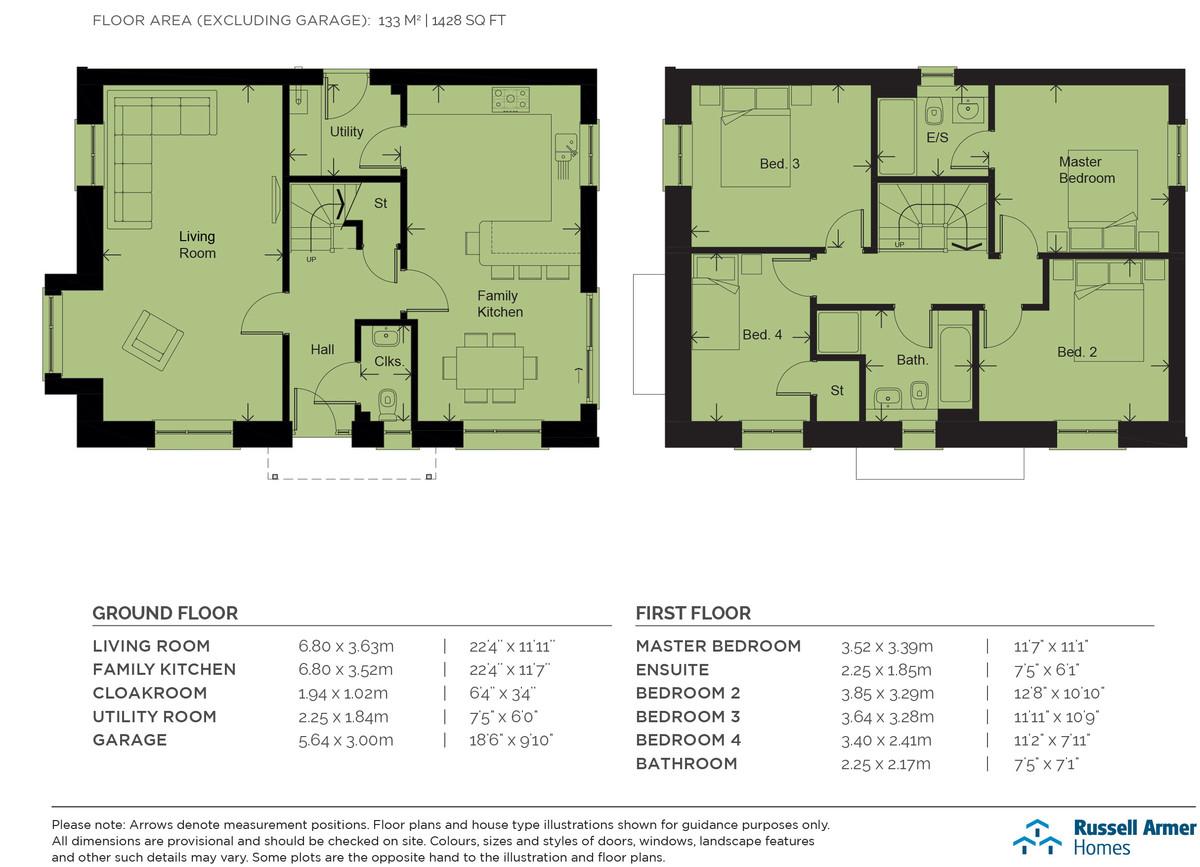 Floorplan Oakfield Park (Plot 76The Ingleton)