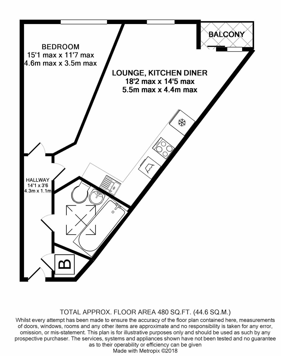 Trinity House B1 floorplan 1 of 1