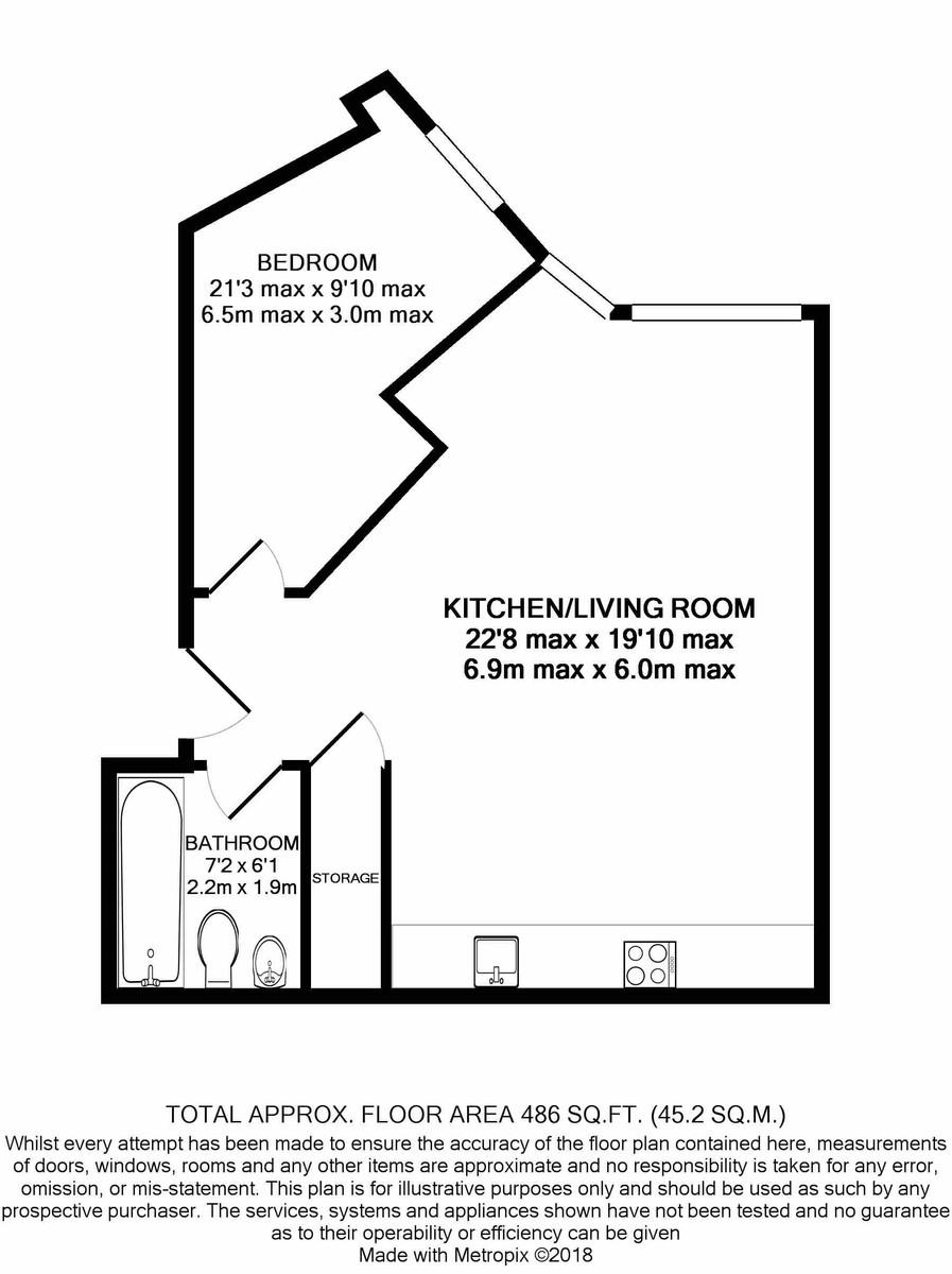 One Metropolitan House, Birmingham floorplan 1 of 1
