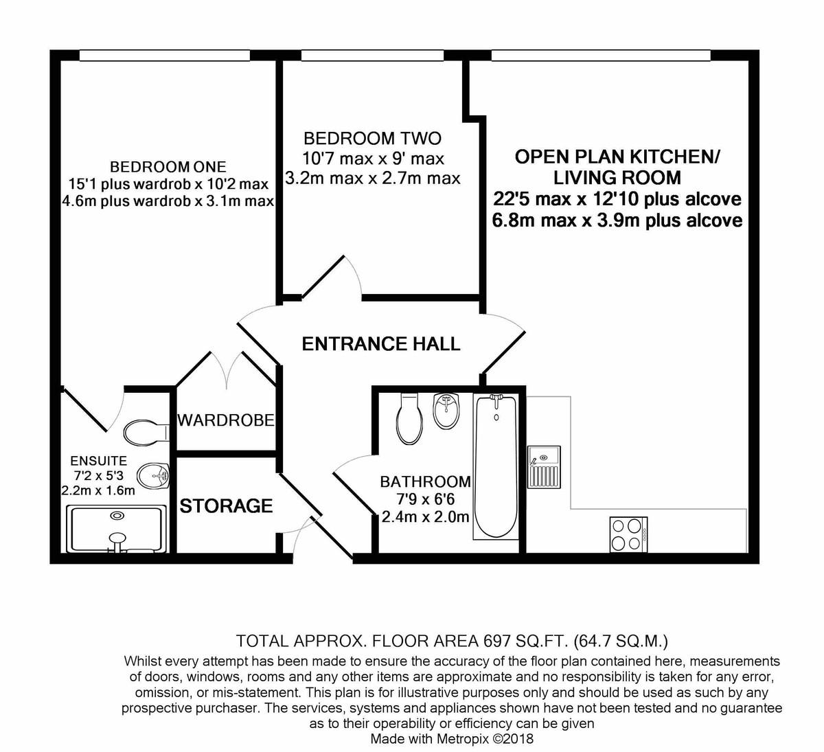 The Mill Morville Street floorplan 1 of 1