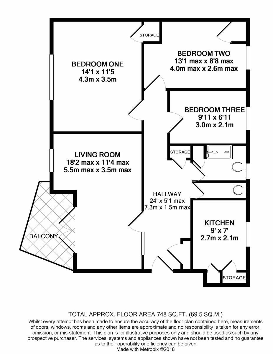 St. Dennis House, Melville Road floorplan 1 of 1