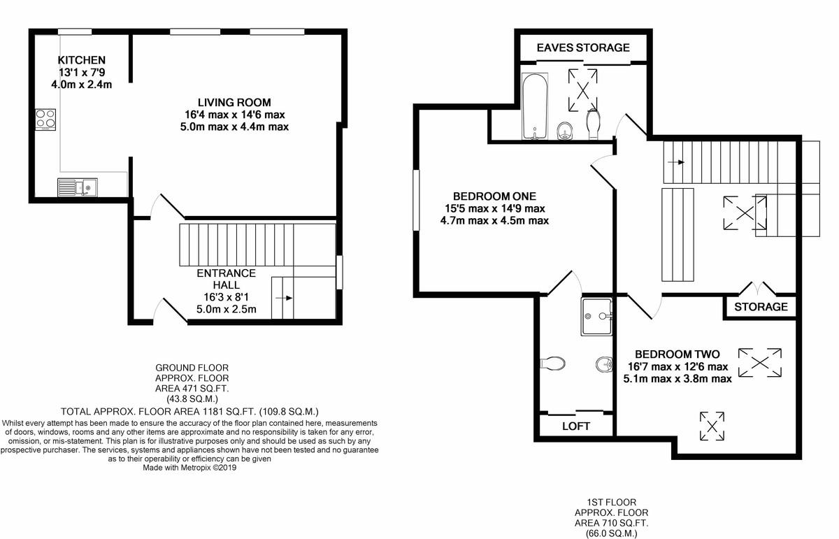 St James Place George Road floorplan 1 of 1