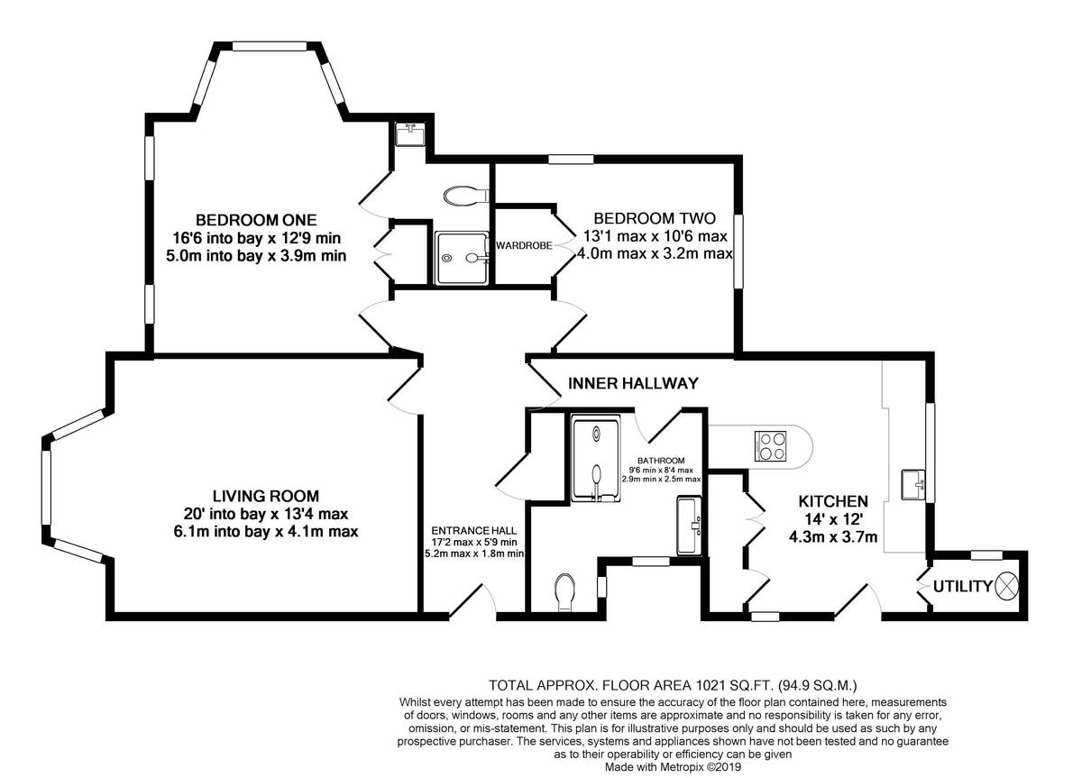Kenilworth court Hagley Road floorplan 1 of 1