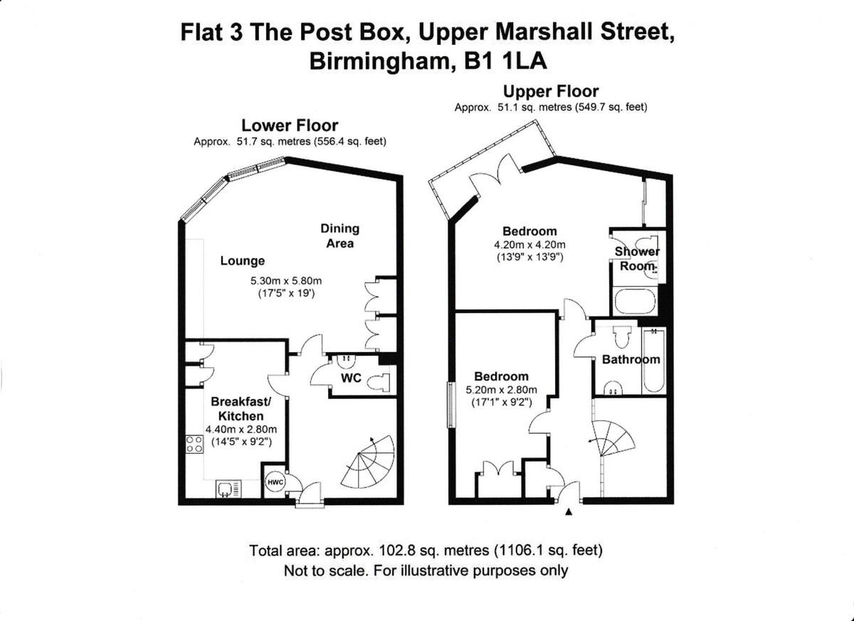 The Postbox Apartments, Upper Marshall Street, Birmingham floorplan 1 of 1