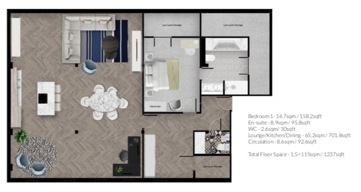 Apt 4, No.101 Bath Street, Birmingham City Centre floorplan 1 of 1