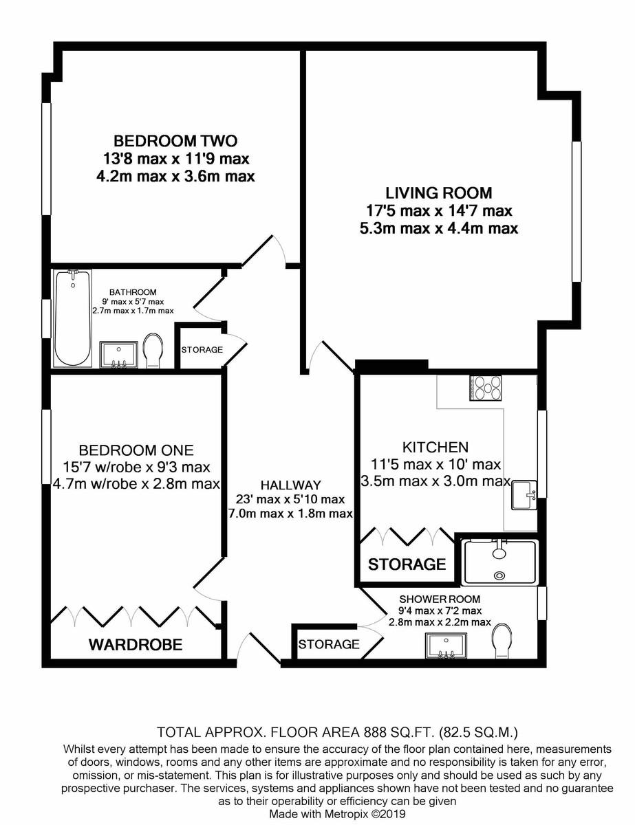 Summerfield Court Hermitage Road floorplan 1 of 1