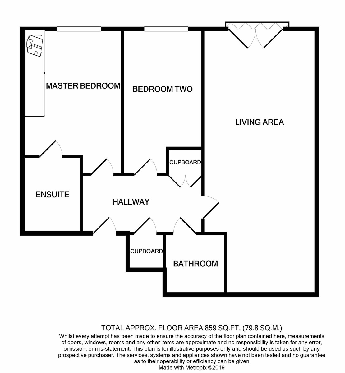 Q Apartments, 22 Newhall Hill floorplan 1 of 1