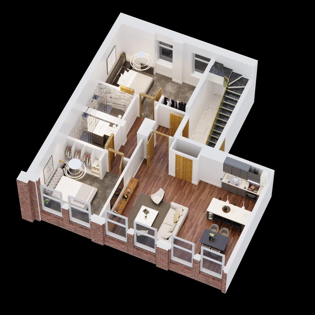 Sydenham Place, Tenby Street North, Birmingham floorplan 2 of 2