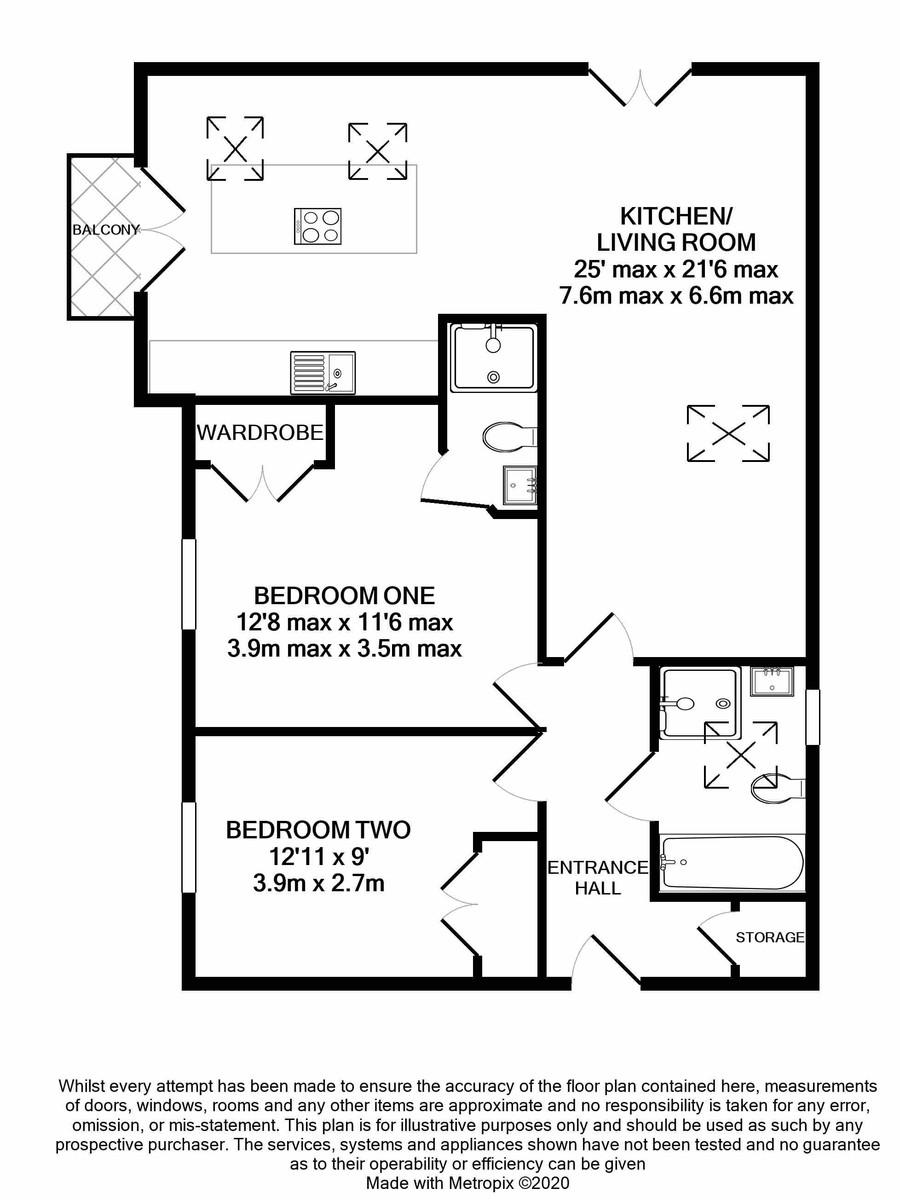 The Willows 110 Edgbaston Road floorplan 1 of 1