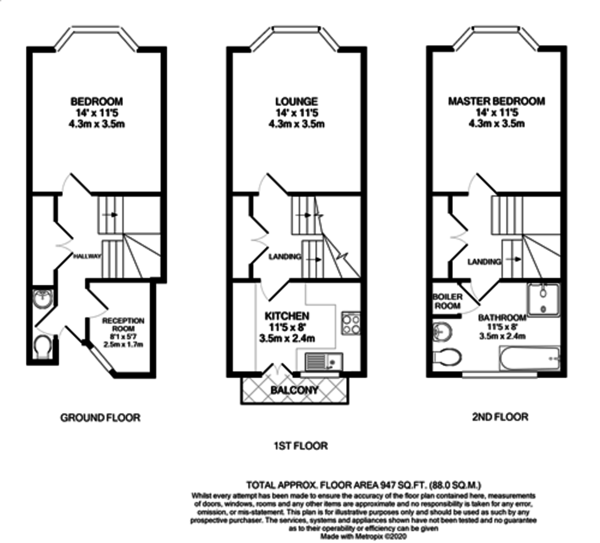 Kings Court, 25 Cox Street, St. Pauls Square floorplan 1 of 1