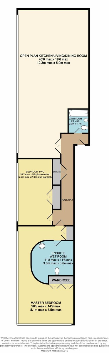 Millennium Apartments, 95 Newhall Street, Birmingham City Centre floorplan 1 of 1