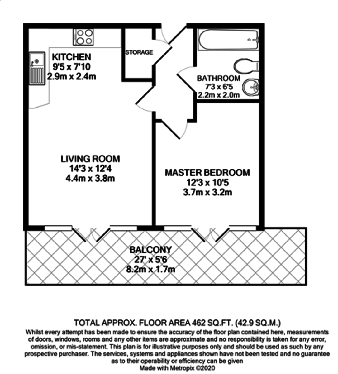 Westgate Apartments, 10 Arthur Place, Jewellery Quarter floorplan 1 of 1