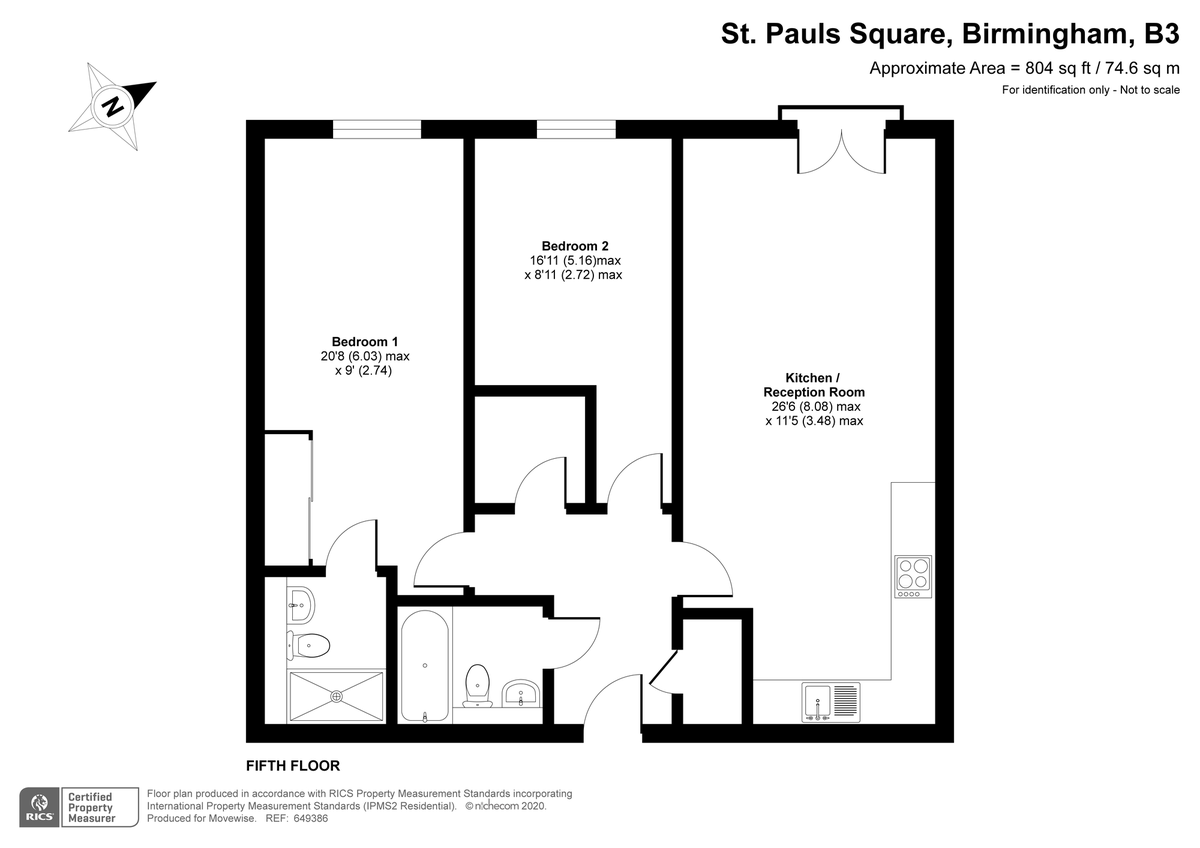 St. Pauls Place, 40 St. Pauls Square, Jewellery Quarter floorplan 1 of 1