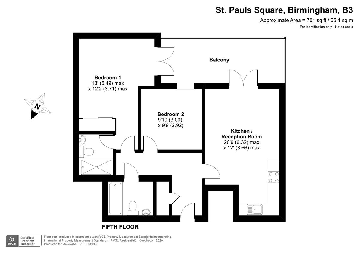 St Pauls Place, 40 St. Pauls Square, Jewellery Quarter floorplan 1 of 1