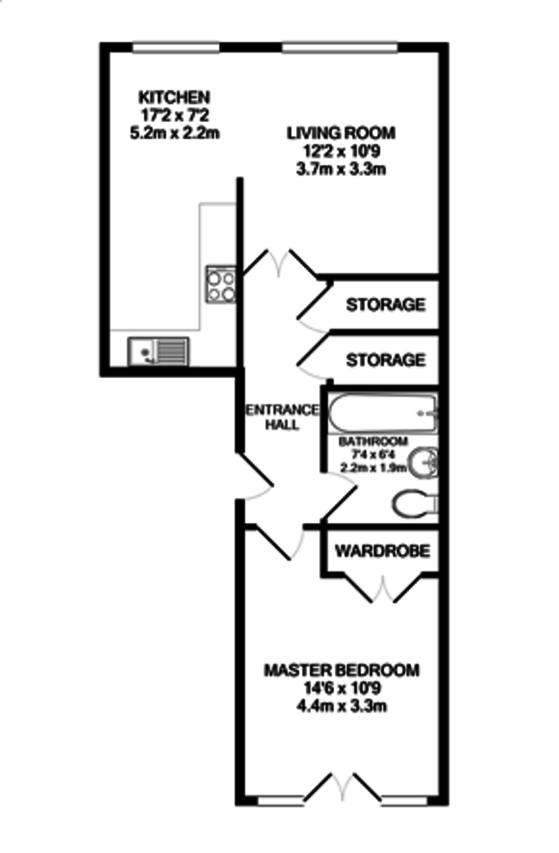 Royal Arch Apartments, The Mailbox, Wharfside Street floorplan 1 of 1