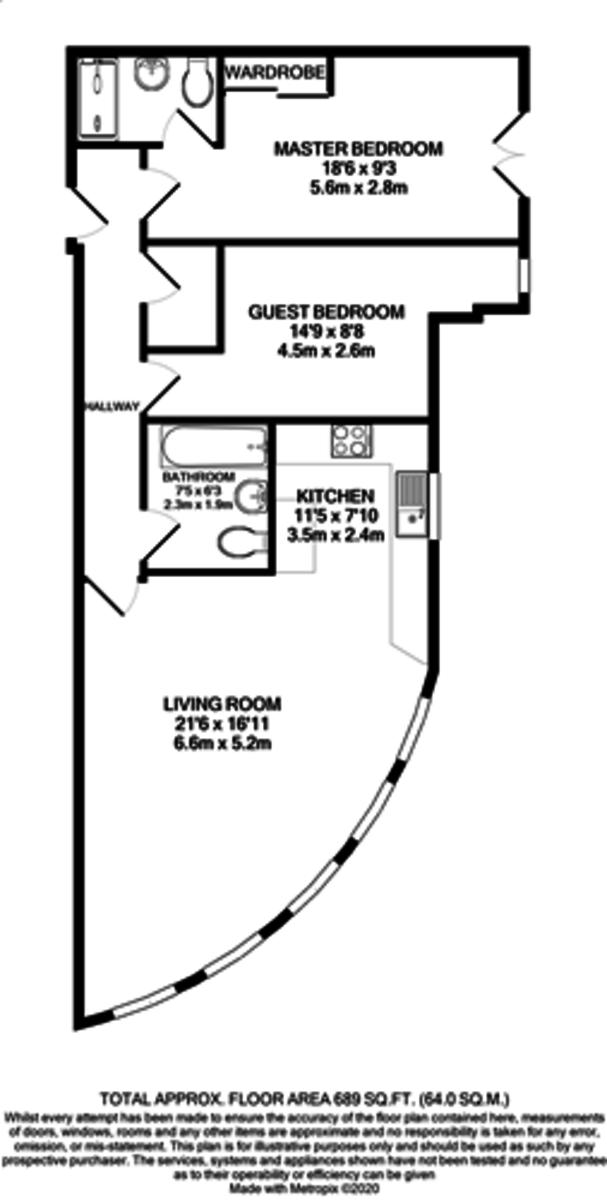 The Postbox Apartments, Upper Marshall Street, Birmingham City Centre floorplan 1 of 1
