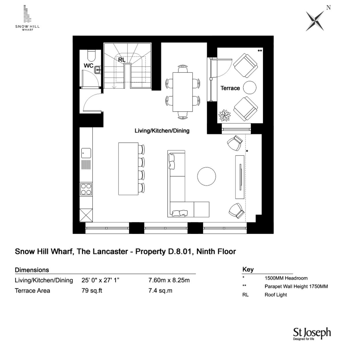 Snow Hill Wharf, Birmingham City Centre floorplan 1 of 3