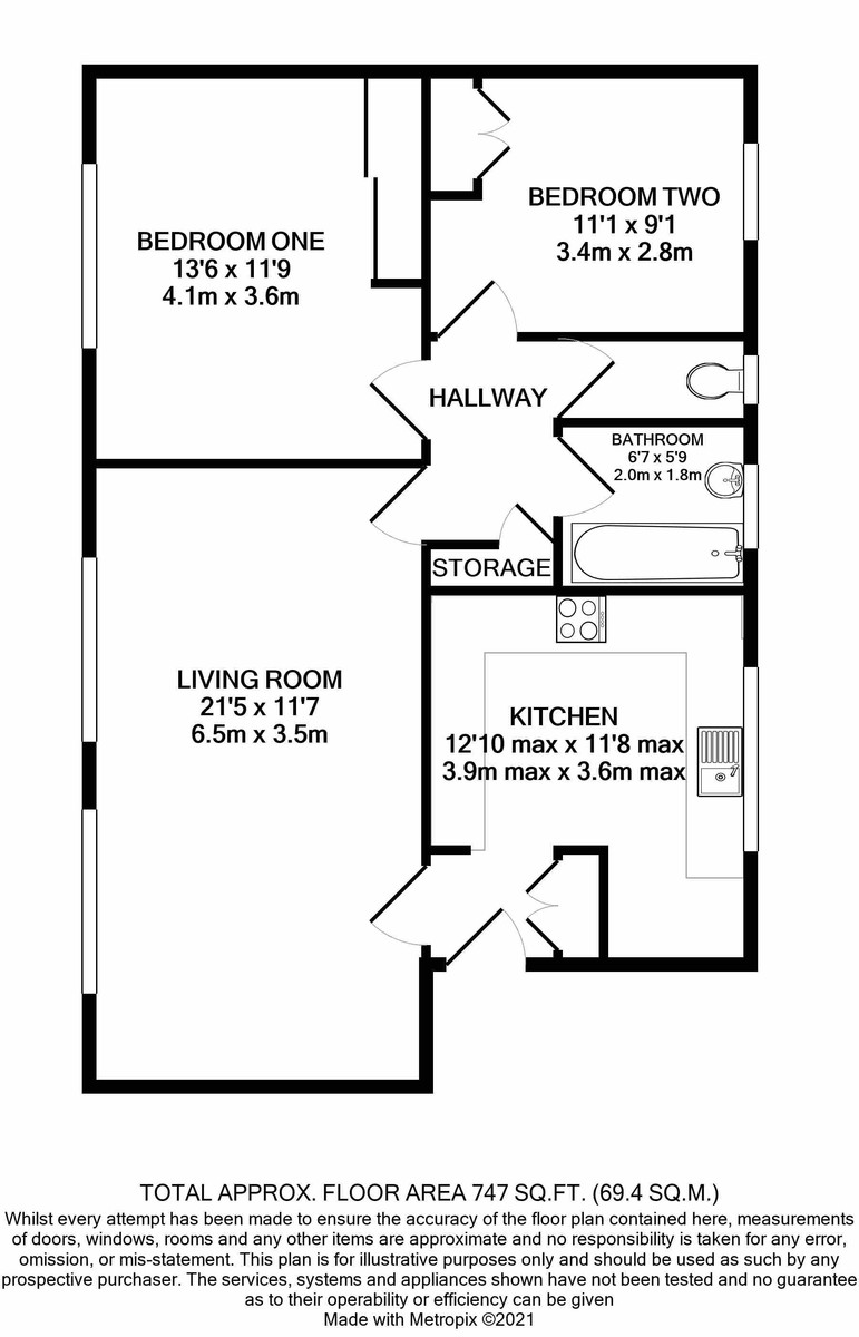 Ormsby Court Richmond Hill Road floorplan 1 of 1
