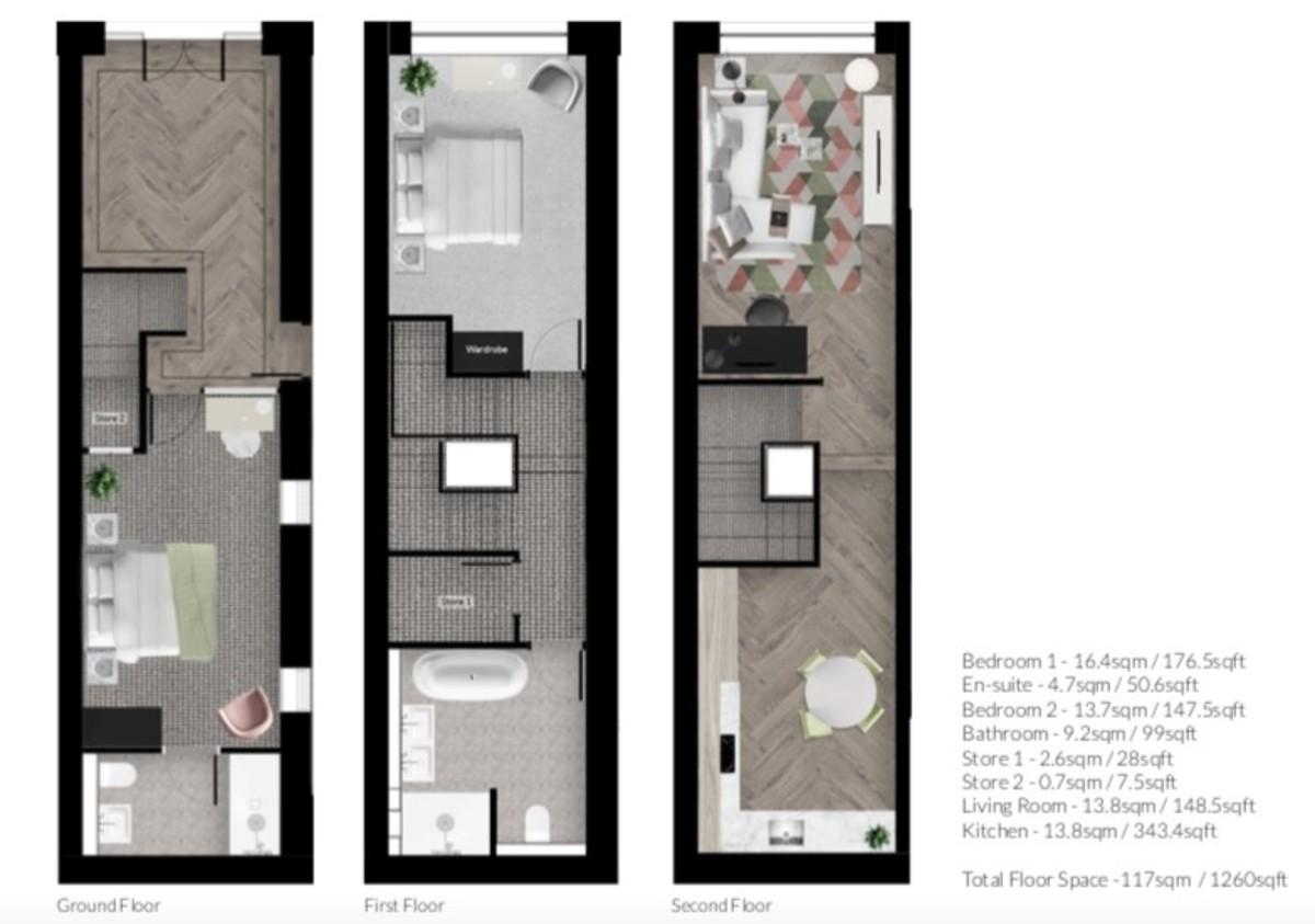 90 Lower Loveday Street, Birmingham City Centre floorplan 1 of 1
