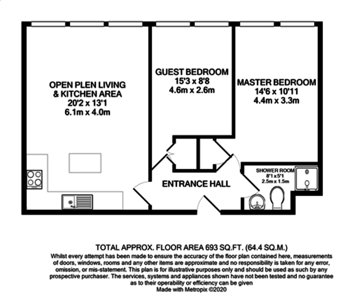 Millennium Apartment, 95 Newhall Street, Birmingham City Centre floorplan 1 of 1