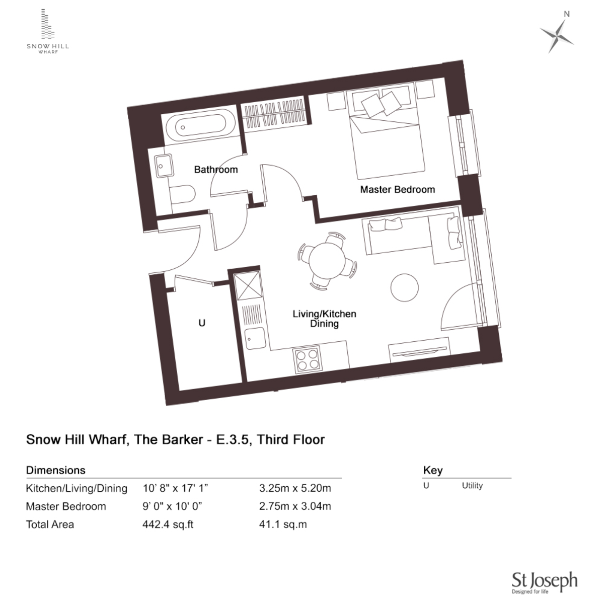 The Barker, Snow Hill Wharf, 61 Shadwell Street floorplan 1 of 1