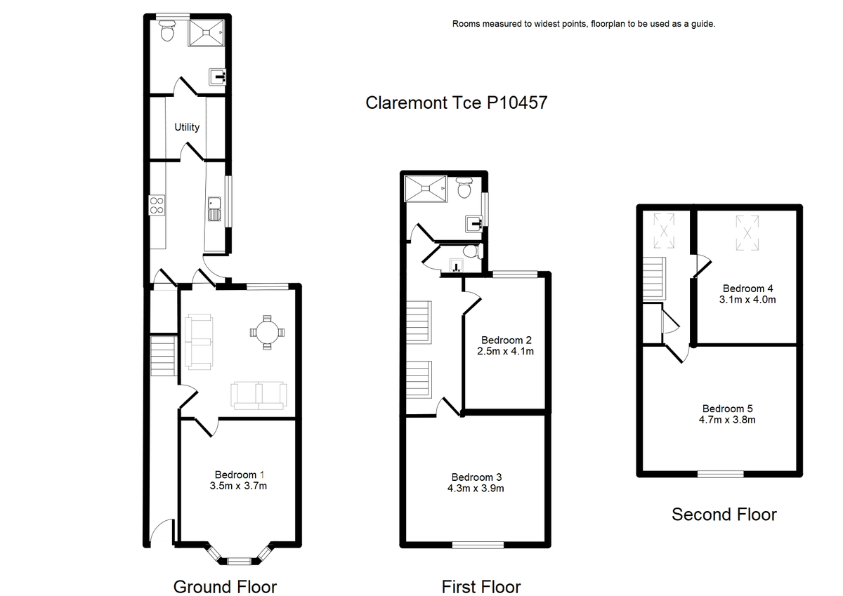 Student housing on Claremont Terrace, Gillygate - floorplan 01