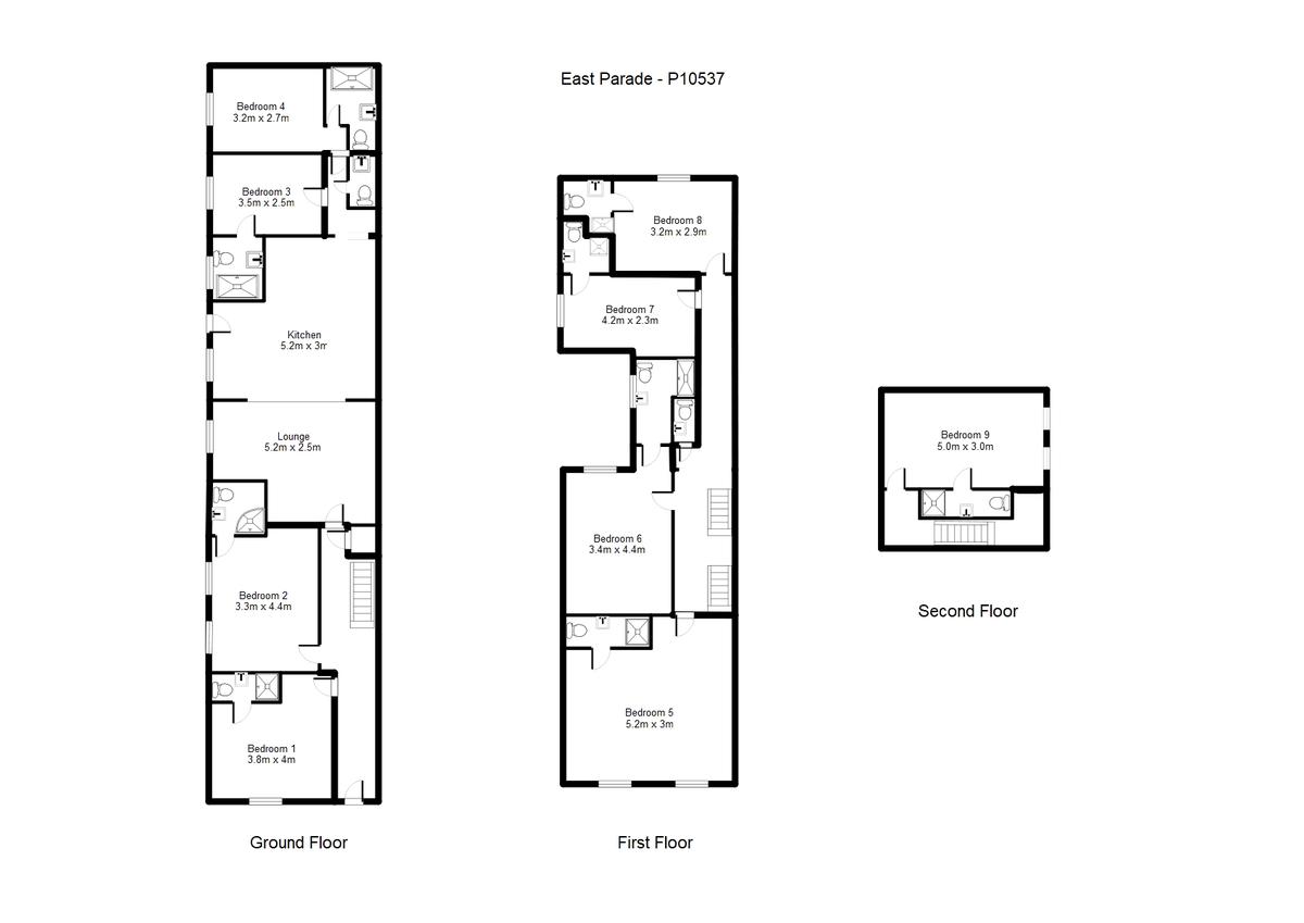Student housing on East Parade, Heworth - floorplan 01