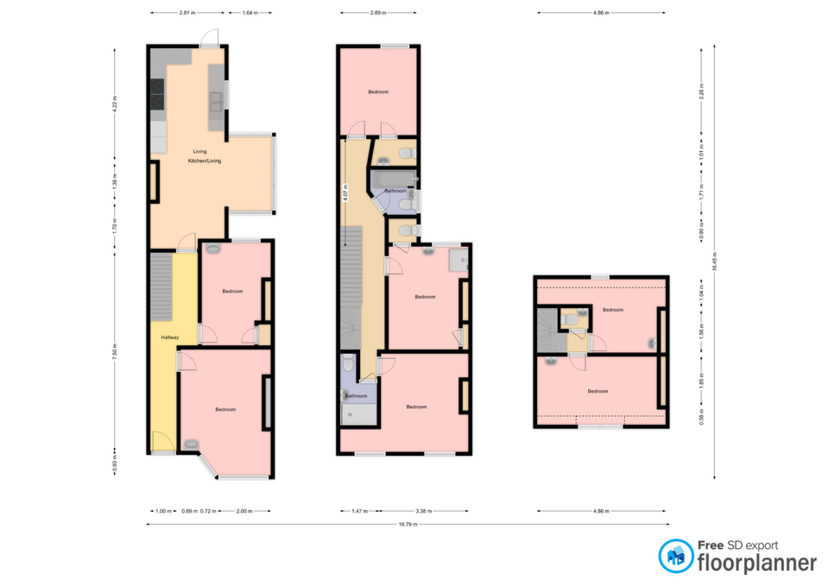 Student housing on Haxby Road, The Groves - floorplan 01