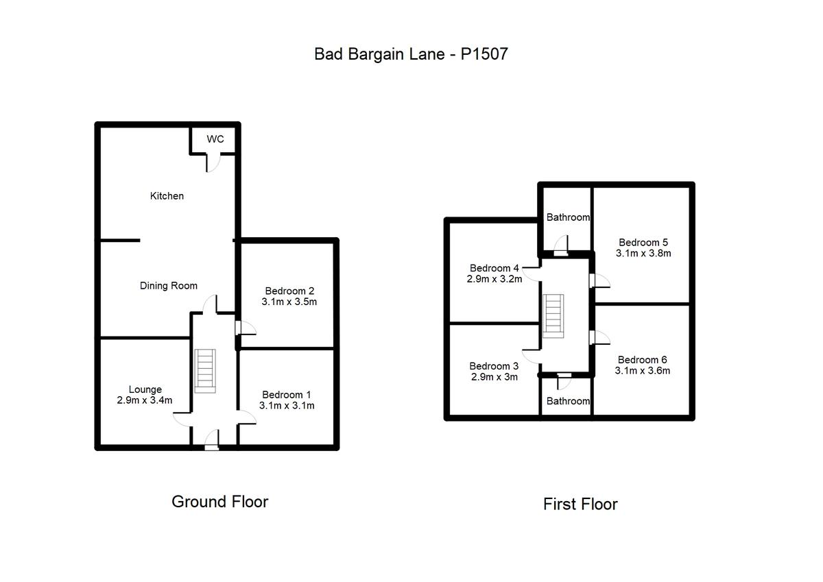Student housing on Bad Bargain Lane, Tang Hall - floorplan 01