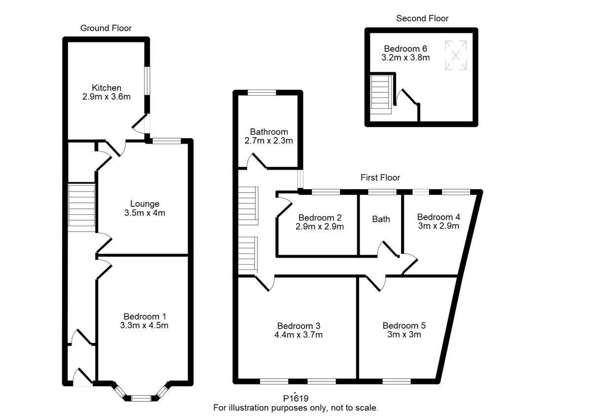 Student housing on Neville Terrace, The Groves - floorplan 01
