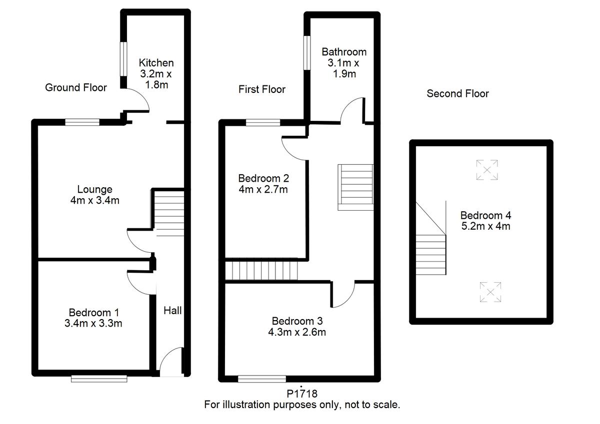 Student housing on Eldon Terrace, The Groves - floorplan 01