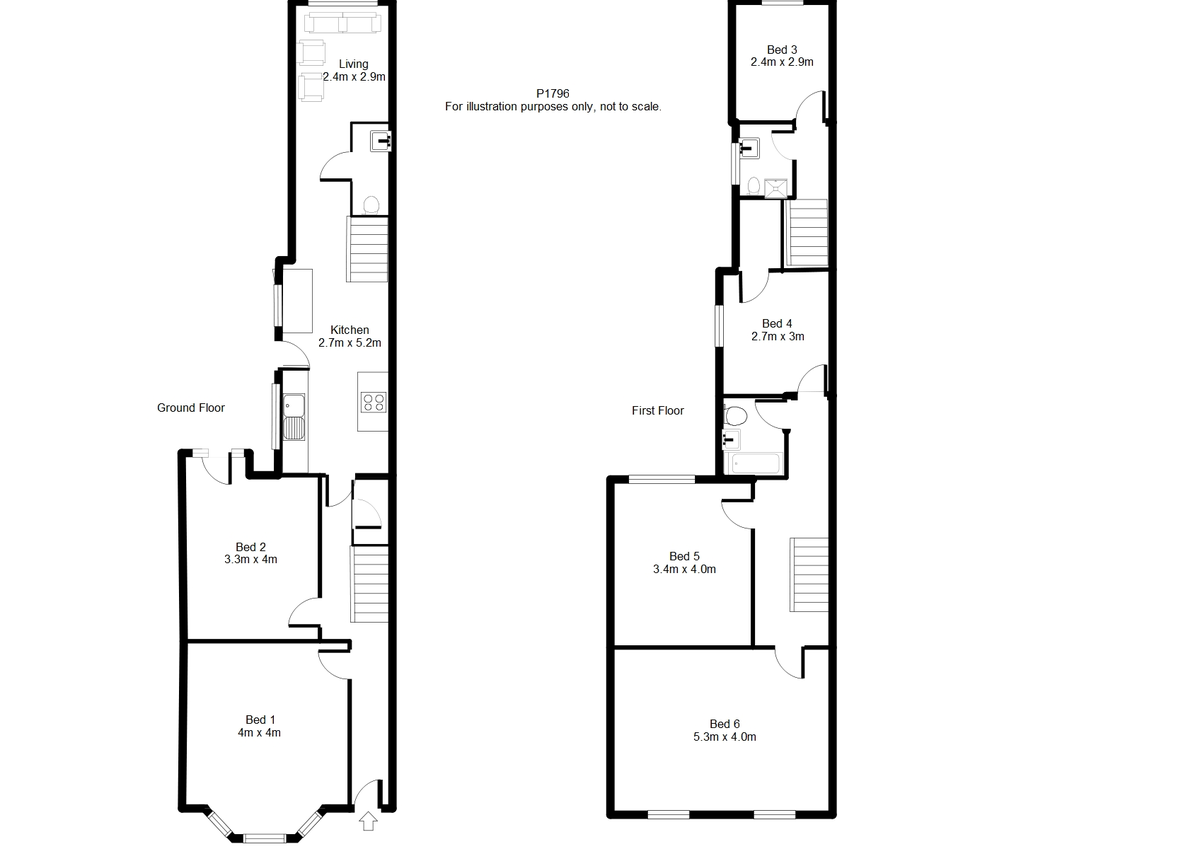 Student housing on Vyner Street, Haxby Road - floorplan 01