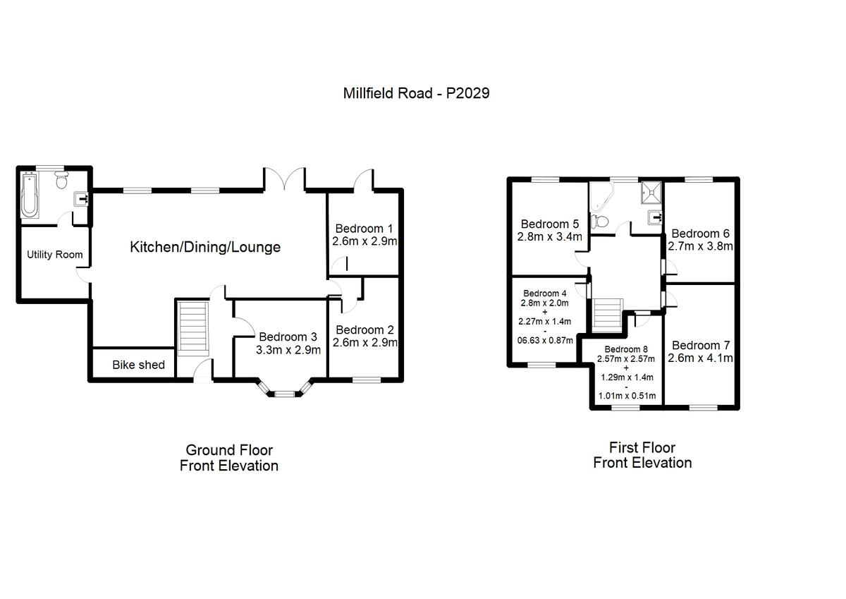 Student housing on Millfield Lane, Hull Road - floorplan 01