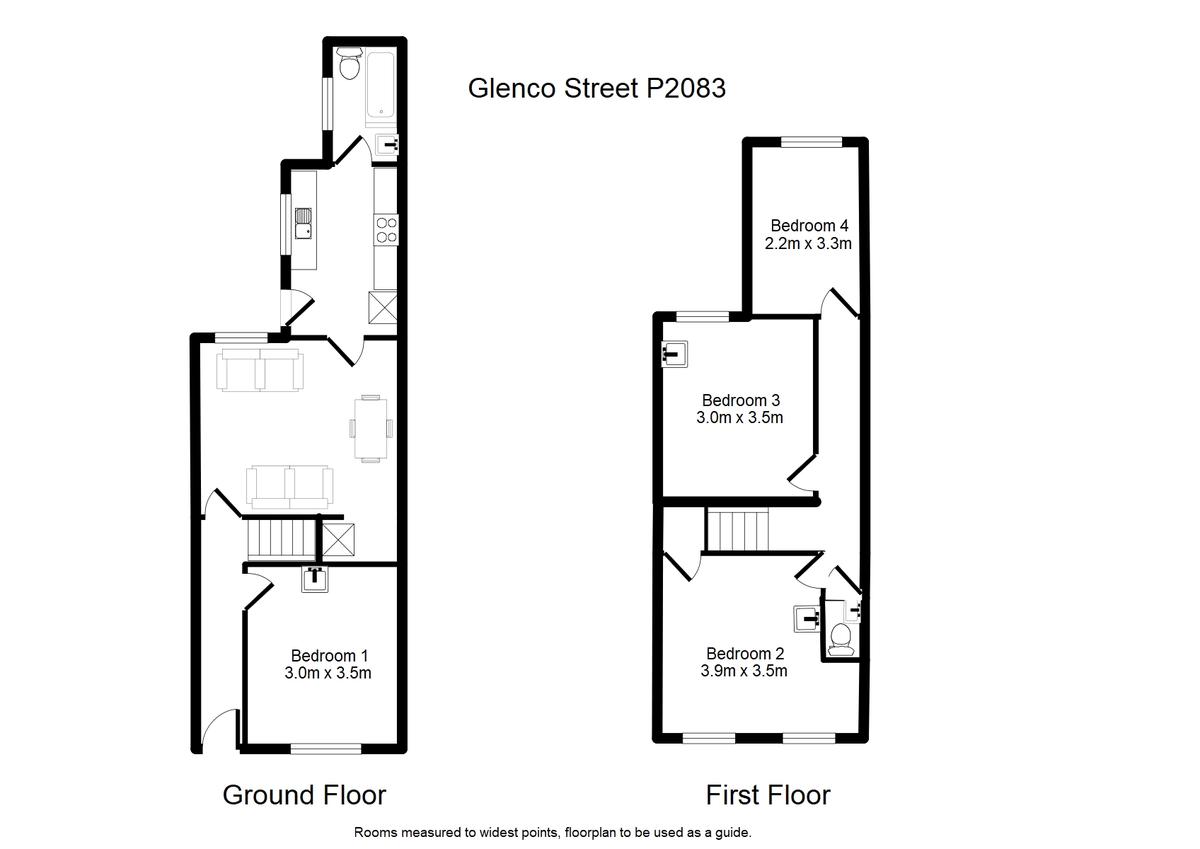 Student housing on Glencoe Street, Burton Stone Lane - floorplan 01