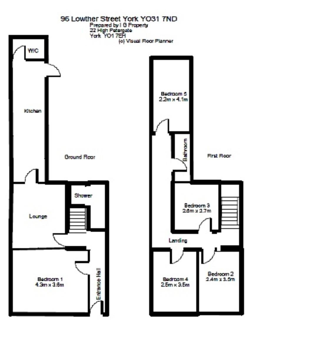 Student housing on Lowther Street, The Groves - floorplan 01