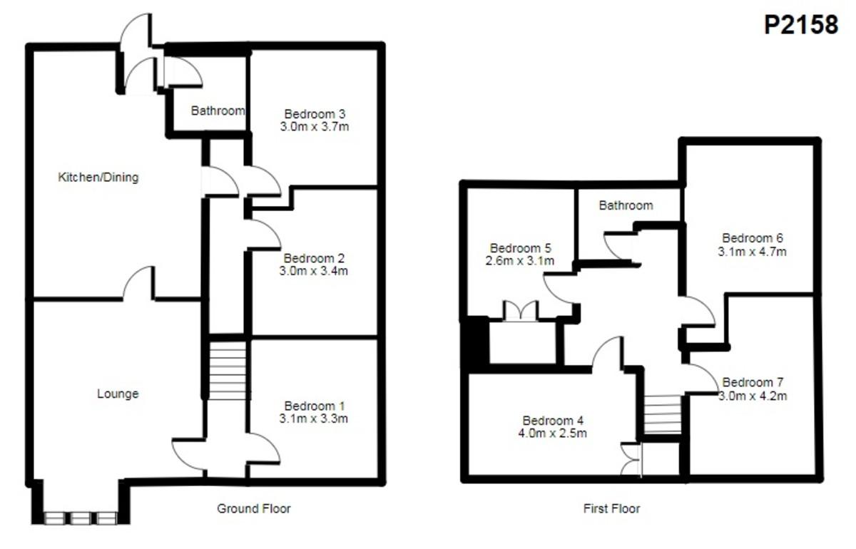 Student housing on Alcuin Avenue, Tang Hall - floorplan 01